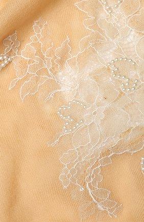 Женская шерстяная шаль VINTAGE SHADES бежевого цвета, арт. 8998 | Фото 2