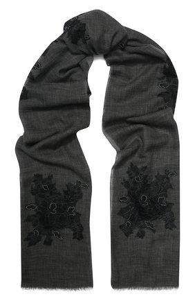 Женская шерстяная шаль VINTAGE SHADES темно-серого цвета, арт. 8998 | Фото 1