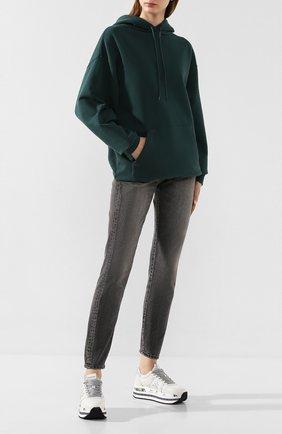 Женские кожаные кроссовки beth PREMIATA серебряного цвета, арт. BETH/VAR4517 | Фото 2