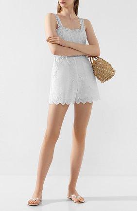 Женские кожаные шлепанцы GIANVITO ROSSI белого цвета, арт. G11440.05CU0.VITBIAN | Фото 2
