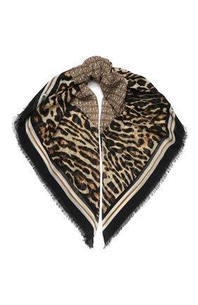 Женский платок из смеси шерсти и шелка BURBERRY бежевого цвета, арт. 8022391 | Фото 1
