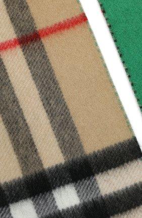 Мужские шарф из смеси шерсти и кашемира BURBERRY зеленого цвета, арт. 8022490 | Фото 2