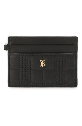 Женский кожаный футляр для кредитных карт BURBERRY черного цвета, арт. 8023346 | Фото 1