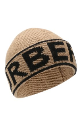 Женский кашемировая шапка BURBERRY бежевого цвета, арт. 8023983 | Фото 1