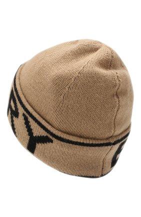 Женский кашемировая шапка BURBERRY бежевого цвета, арт. 8023983 | Фото 2