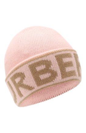 Женский кашемировая шапка BURBERRY розового цвета, арт. 8023984 | Фото 1