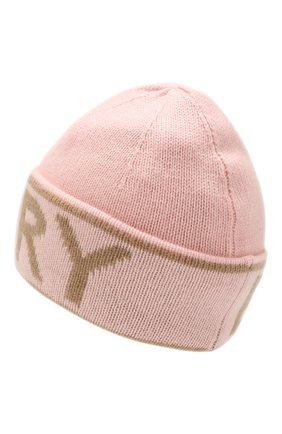 Женский кашемировая шапка BURBERRY розового цвета, арт. 8023984 | Фото 2