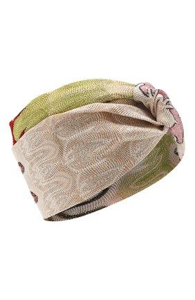 Женская повязка на голову MISSONI розового цвета, арт. MDS00114/BR007Z | Фото 1