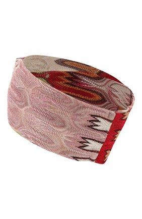 Женская повязка на голову MISSONI розового цвета, арт. MDS00114/BR007Z | Фото 2