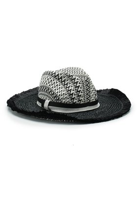 Женская шляпа MISSONI черно-белого цвета, арт. MMS00039/BV004W | Фото 1