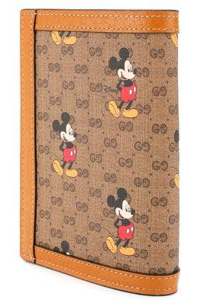 Женские обложка для паспорта disney x gucci GUCCI коричневого цвета, арт. 602538/HWUBM | Фото 2