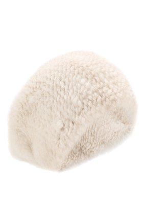 Женская шапка из меха норки KUSSENKOVV светло-бежевого цвета, арт. 052050024071   Фото 1 (Материал: Натуральный мех)