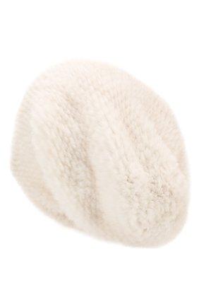 Женская шапка из меха норки KUSSENKOVV светло-бежевого цвета, арт. 052050024071   Фото 2 (Материал: Натуральный мех)