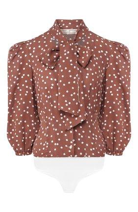 Женское блузка-боди ULYANA SERGEENKO коричневого цвета, арт. 0701т19 (CMA001FW19P) | Фото 1