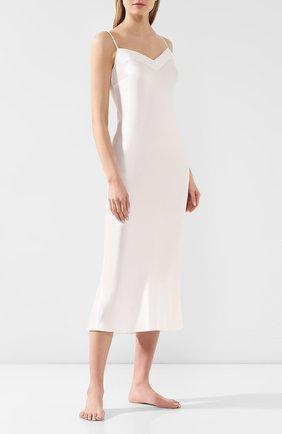 Женская шелковая сорочка MARJOLAINE белого цвета, арт. ODANA_фв19   Фото 2