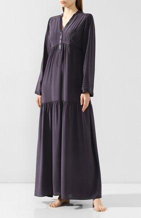 Женские шелковое платье MARJOLAINE темно-серого цвета, арт. 3IND3003_0019 | Фото 2