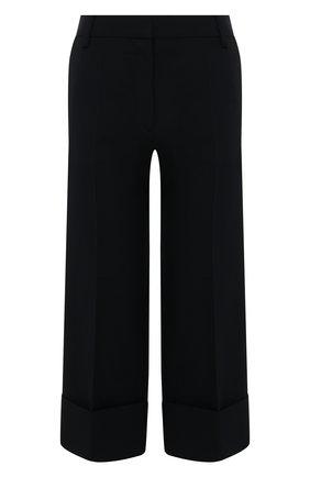 Женские брюки из смеси шерсти и шелка VALENTINO синего цвета, арт. TB3RB3901CF | Фото 1