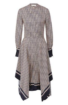 Женское шелковое платье CHLOÉ темно-синего цвета, арт. CHC20SR082350 | Фото 1