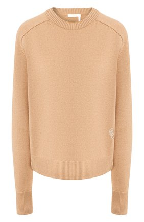 Женская кашемировый пуловер CHLOÉ бежевого цвета, арт. CHC20SMP35500 | Фото 1