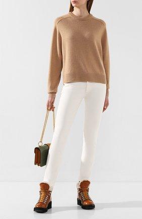 Женская кашемировый пуловер CHLOÉ бежевого цвета, арт. CHC20SMP35500 | Фото 2