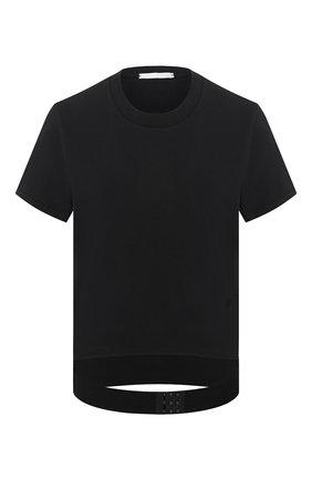 Женская хлопковая футболка HELMUT LANG черного цвета, арт. J09DW501 | Фото 1