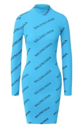 Женское платье BALENCIAGA бирюзового цвета, арт. 595196/T6140 | Фото 1