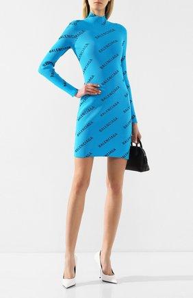 Женское платье BALENCIAGA бирюзового цвета, арт. 595196/T6140 | Фото 2