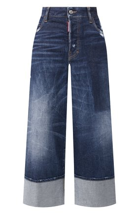 Женские джинсы с отворотами DSQUARED2 голубого цвета, арт. S75LB0255/S30663 | Фото 1