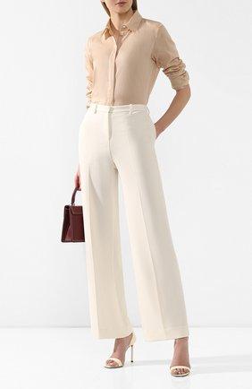 Женские брюки со стрелками THEORY белого цвета, арт. J1109202 | Фото 2