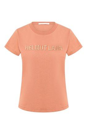 Женская хлопковая футболка HELMUT LANG бежевого цвета, арт. J06DW502 | Фото 1