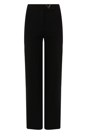 Женские брюки VALENTINO черного цвета, арт. TB3MD01L58K   Фото 1