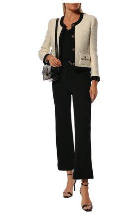 Женские брюки VALENTINO черного цвета, арт. TB3MD01L58K   Фото 2
