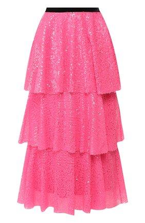 Женская юбка с пайетками IN THE MOOD FOR LOVE розового цвета, арт. KATHARINA NE0N SKIRT | Фото 1