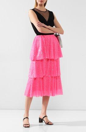 Женская юбка с пайетками IN THE MOOD FOR LOVE розового цвета, арт. KATHARINA NE0N SKIRT | Фото 2