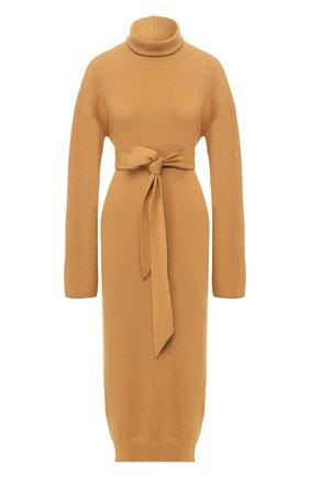 Женское платье с поясом NANUSHKA коричневого цвета, арт. CANAAN_T0FFEE_CASHMERE BLEND RIB   Фото 1
