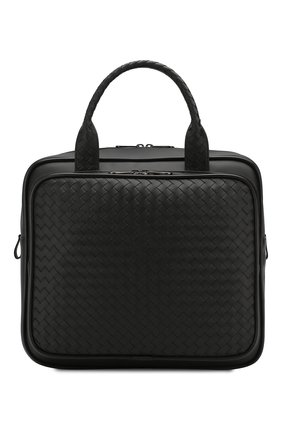 Мужская кожаная дорожная сумка BOTTEGA VENETA черного цвета, арт. 274546/V4651 | Фото 1