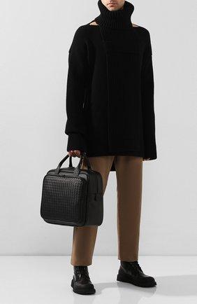 Мужская кожаная дорожная сумка BOTTEGA VENETA черного цвета, арт. 274546/V4651 | Фото 2
