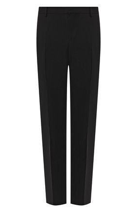 Мужской шерстяные брюки VALENTINO черного цвета, арт. QV3RB54025S | Фото 1