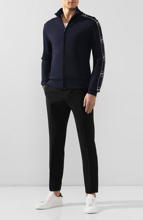 Мужской шерстяные брюки VALENTINO черного цвета, арт. QV3RB54025S | Фото 2