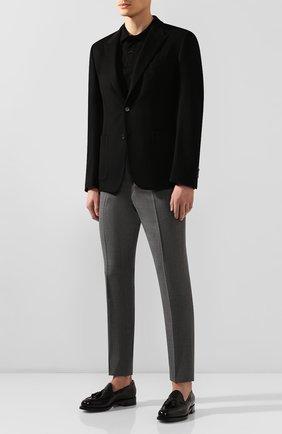 Мужской шерстяные брюки RALPH LAUREN серого цвета, арт. 798727752 | Фото 2