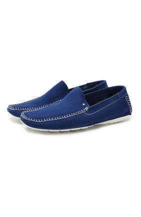 Мужские замшевые мокасины ALDO BRUE синего цвета, арт. AB0019J-VS   Фото 1