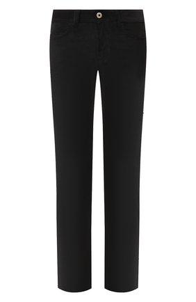 Мужские брюки из смеси хлопка и кашемира LORO PIANA черного цвета, арт. FAI6011 | Фото 1