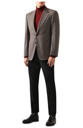Мужские брюки из смеси хлопка и кашемира LORO PIANA черного цвета, арт. FAI6011 | Фото 2