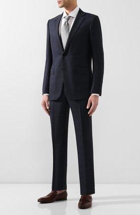 Мужские кожаные пенни-лоферы ERMENEGILDO ZEGNA бордового цвета, арт. A3014X-LHAFR | Фото 2