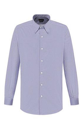 Мужская хлопковая рубашка ERMENEGILDO ZEGNA синего цвета, арт. UUX01/SAL2 | Фото 1