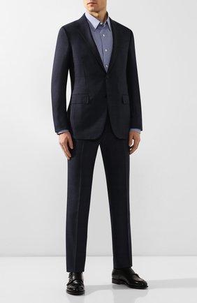 Мужская хлопковая рубашка ERMENEGILDO ZEGNA синего цвета, арт. UUX01/SAL2 | Фото 2