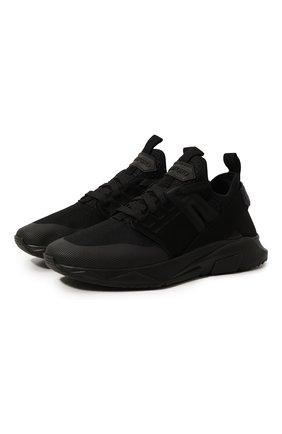 Мужские комбинированные кроссовки TOM FORD черного цвета, арт. J1100T-T0F002 | Фото 1