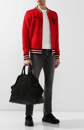 Мужская текстильная сумка ALEXANDER MCQUEEN черного цвета, арт. 575553/HU01B | Фото 2