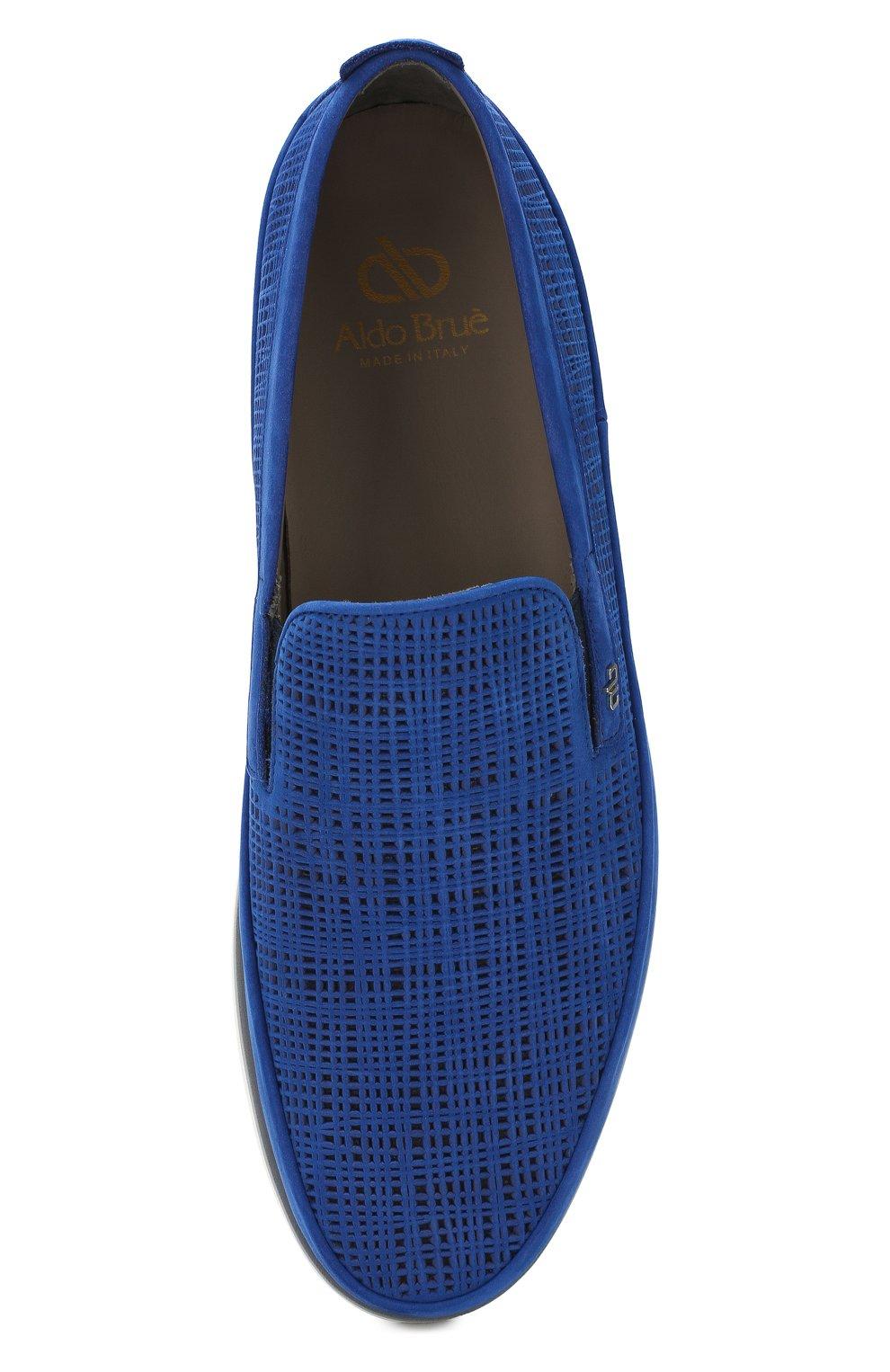Мужские замшевые лоферы ALDO BRUE темно-синего цвета, арт. AB8001J-NSF   Фото 5