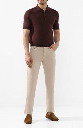 Мужские замшевые мокасины ALDO BRUE коричневого цвета, арт. AB0019J-VS   Фото 2